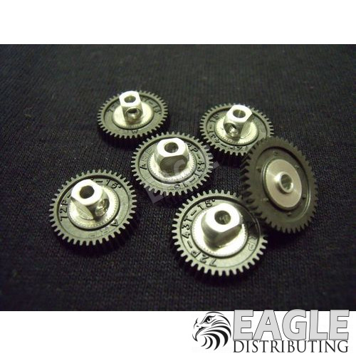 43 teeth,  72 pitch,  3/32 bore. 15° angle spur gear