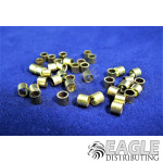3/32 Brass Axle Spacer .100 Long (4 bags of 10)
