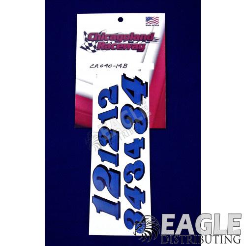 Blue Number Sheet 1 thru 4