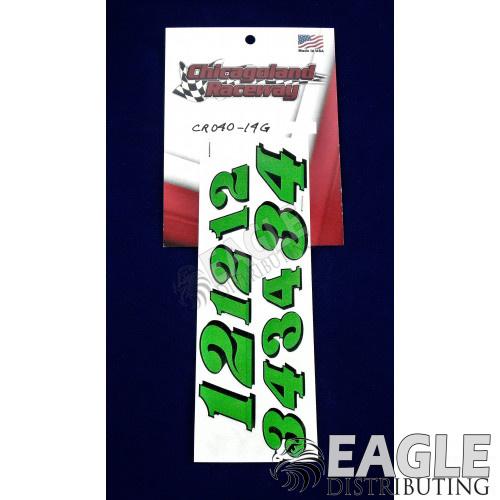Green Number Sheet 1 thru 4