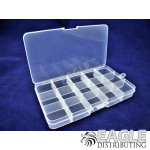 Clear Plastic Box w/15 configurable sections