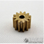 12T 48P Brass Pinion press fit