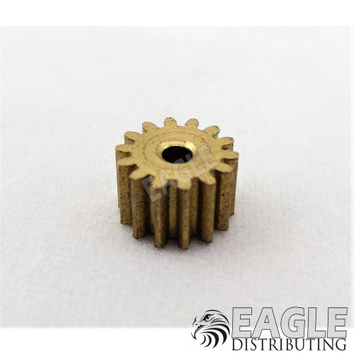 14T 48P Brass Pinion press fit-DE50114