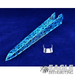 Blue Drops Hydro Dipped Plastic Dragster Body