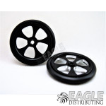 "1/16 x 7/8 Scale 17"" Black Blade O-ring Drag Fronts"