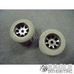1/8 x 27mm x 18mm Black Nascar Rear Wheels w/Nat. Foam Tires