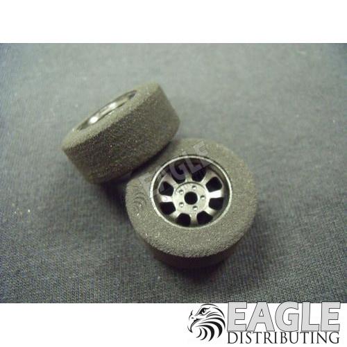 1/8 x 27mm x 12mm Black Nascar Front Wheels w/Foam Tires-HR1102