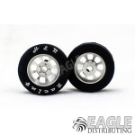 Nascar Front Silver Narrow Wheel w/Rubber Tire