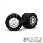 Nascar Rear Silver Wide Wheel w/Silicone Tire