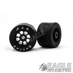 Nascar Rear  Black Wide Wheel w/Rubber Tire