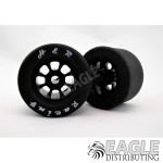 1/8 x 27x18mm Nascar Black Rear Silicone Tire