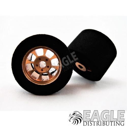 Nascar Rear Gold Wide Wheel Foam Tire 1/8 x 27mm x 18mm