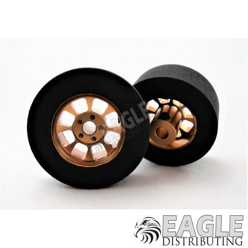 Nascar Front Gold Narrow Foam Tire 1/8  27mm x 12mm