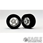 1/8 x 27mm x 12mm Silver 5-Slot Front Wheels w/Foam Tires