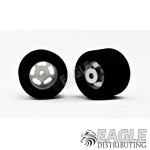 1/8 x 27mm x 18mm Silver 5-Slot Rear Wheels w/Foam Tires