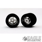 1/8 x 27mm x 18mm Silver 5-Slot Rear Wheels w/Nat. Foam Tires