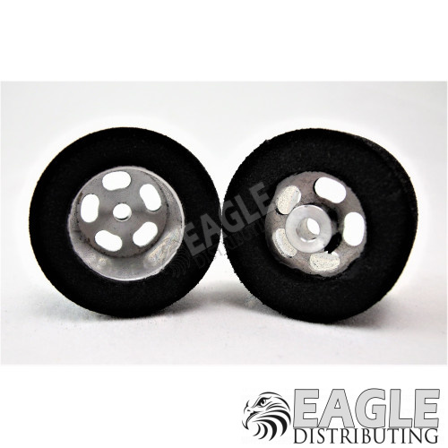 1/8 x 27mm x 21mm Silver 5-Slot Rear Wheels w/Foam Tires-HR1205