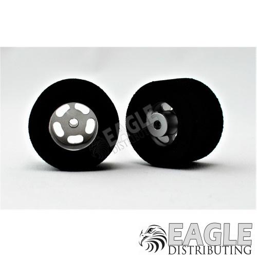 1/8 x 30mm x 16mm Silver 5-Slot Rear Wheels w/Foam Tires-HR1208