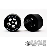 1/8x27x18mm Silicone Tire (25 Shore) w/Black Wheel
