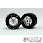 1/8x27x18mm Silicone Tire w/Chrome 6 Spoke Wheel