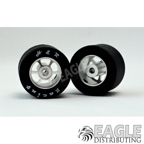 1/8 x 27mm x 18mm Silver 6-Spoke Rear Wheels w/Silicone Tires-HR1354