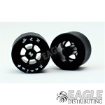 1/8x27x18mm Silicone Tire w/Black 6 Spoke Wheel