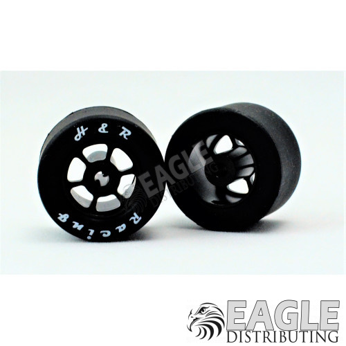 1/8x18mm Silicone Tire w/Black 6 Spoke Wheel