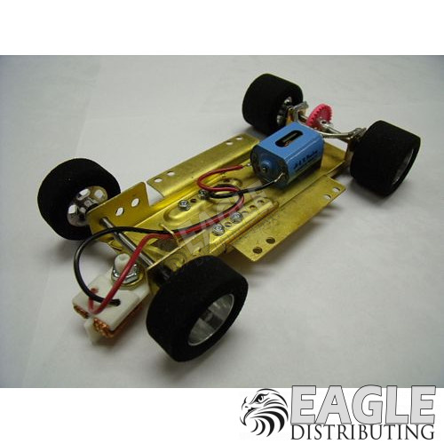 H&R 1/24 scale adjustable slot car chassis, Nat Rubber tires