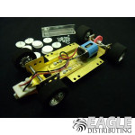 1/24 Scale RTR Less Body w/Adjustable Chassis, 26K RPM Motor, Nat. Rubber Tires, Silver Wheels
