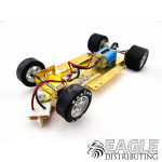 1/24 Scale RTR Less Body w/Adjustable Chassis, 18K RPM Motor, Silicone Tires, Silver Wheels