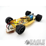 1/24 Scale RTR Less Body w/Adjustable Chassis, 18K RPM Motor, Silicone Tires, Black Wheels