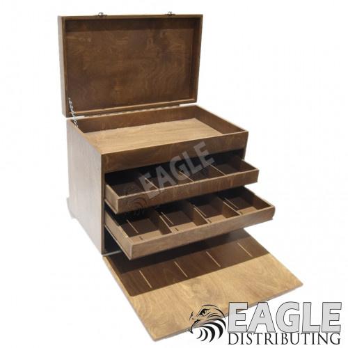 Economy Wood Slot Car Pit Box-JCBOX3