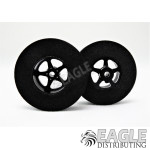 3/32 x 1 3/16 x .300 Black Pro Star Rear Drag Wheels