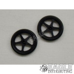 17in Scale O-ring Black Star Drag Front Wheels