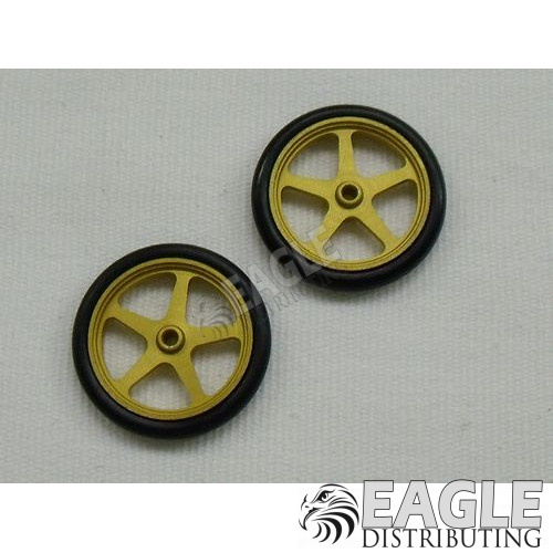 Scale series 17 Star Drag Front Wheels, Gold