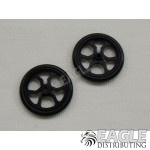 17in Scale O-ring Black Spider Drag Front Wheels