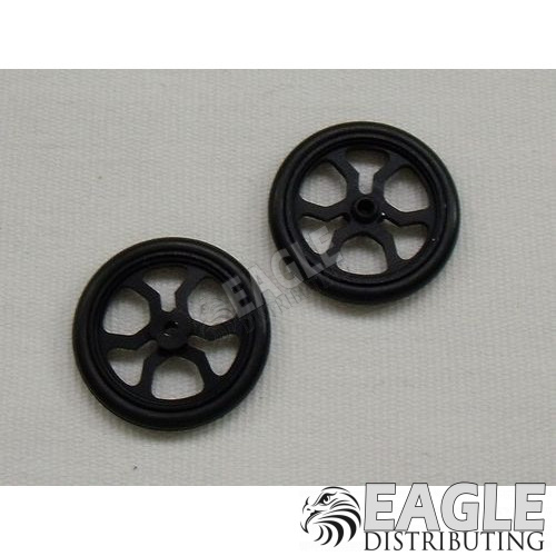 Scale Series 17 Spider Drag Front Wheels, Black