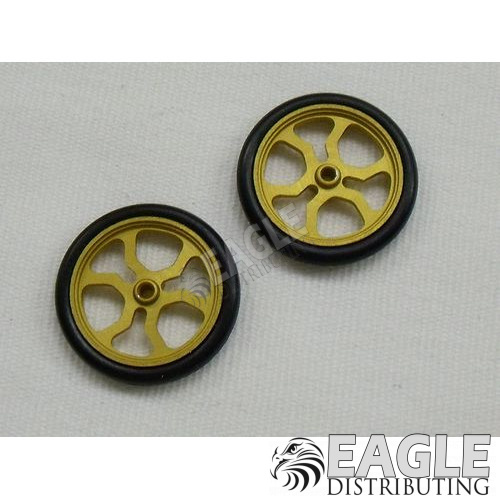 Scale Series 17 Spider Drag Front wheels, Gold