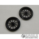 17in Scale O-ring Black 10 Spoke Drag Front Wheels