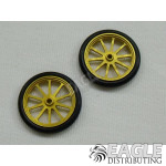 17in Scale O-ring Gold 10 Spoke Drag Front Wheels