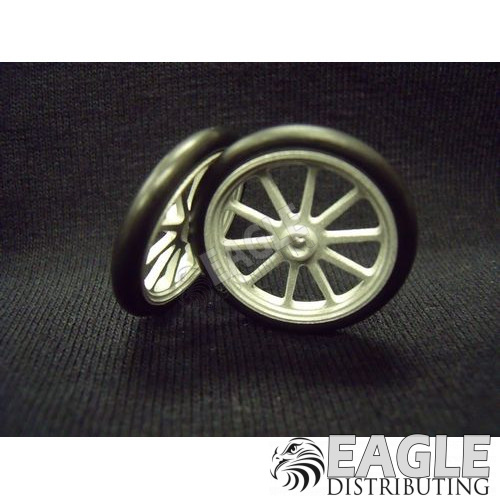Scale Series 17 10 spoke Drag Front Wheels, Glass Bead Finish