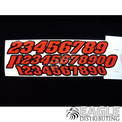 Stock car numbers (Red)