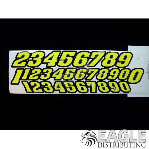 Stock car numbers (Yellow)