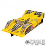"""1:24 Scale RTR, 4"""" Cheetah 21 Chassis, Hawk 7, 64 Pitch, LMP, Lola B12 Custom Body, Yellow Monster Energy #7 Livery"""
