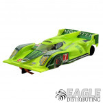 """1:24 Scale RTR, 4"""" Cheetah 21 Chassis, Hawk 7, 64 Pitch, LMP, Lola B12 Custom Body, Green Monster Energy #7 Livery"""