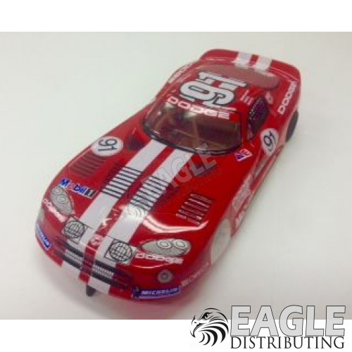 "1:24 Scale RTR, 4"" Cheetah 21 Chassis, Hawk 7, 64 Pitch, GT, Viper Custom Body, Viper #91 Livery-JK20417164"