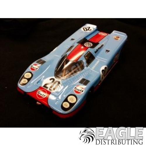 "1:24 Scale RTR, 4"" Cheetah 21 Chassis, Hawk 7, 64 Pitch, RETRO, Porsche 917 Custom Body, Gulf #20 Livery-JK20417182"