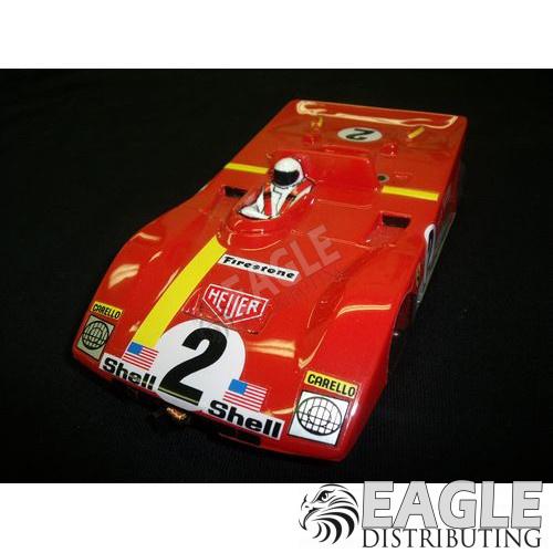 "1:24 Scale RTR, 4"" Cheetah 21 Chassis, Hawk 7, 64 Pitch, RETRO, Ferrari 312 Custom Body, Ferrari #2 Livery-JK20417183"