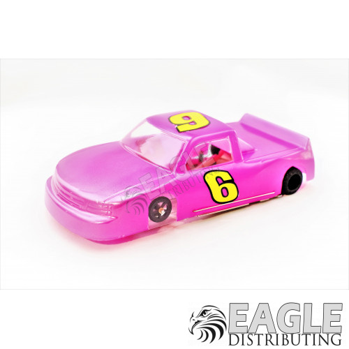"""1:24 Scale RTR, 4"""" Cheetah 21 Chassis, Hawk 7, 64 Pitch, Nastruck, Chevy Painted Body-JK204172E"""