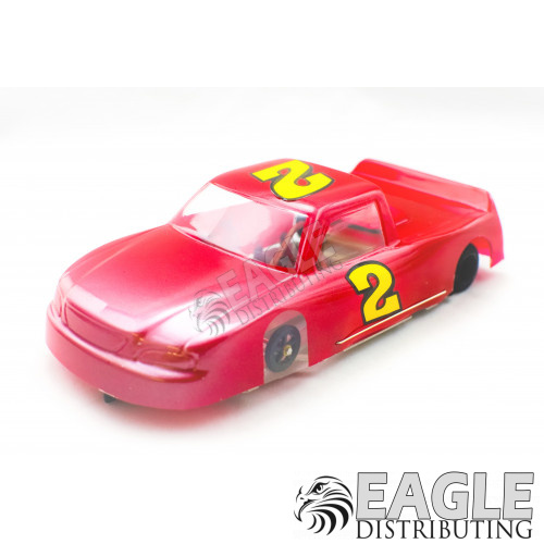 """1:24 Scale RTR, 4"""" Cheetah 21 Chassis, Hawk 7, 64 Pitch, Nastruck, Ford Painted Body-JK204172F"""